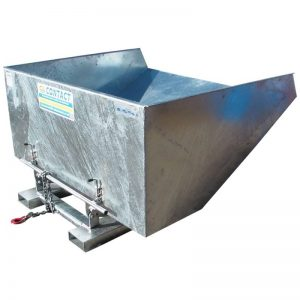 Fork Mounted Galvanised Tipping Skip
