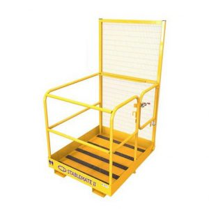 Fork Mounted two person gated safety cage