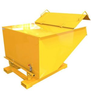 Fork Mounted Lidded Tipping Skips
