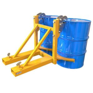 Fork Mounted Twin Rim Grip Drum Handler