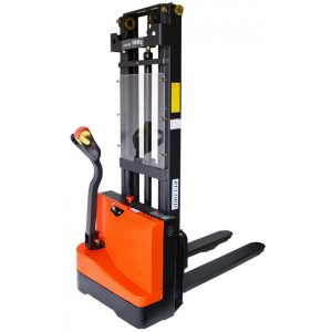 Fully Powered Wrapover Stacker with Straddle Leg