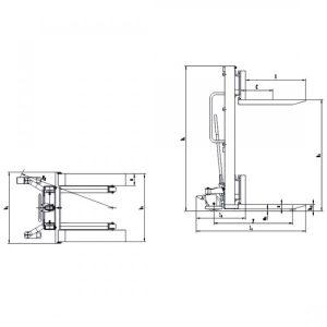 CTM Manual Stacker - Measurements