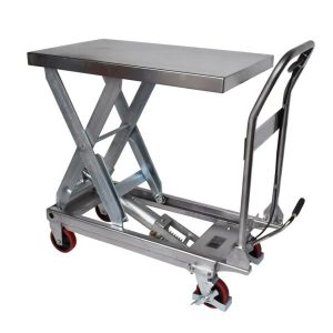 Manual Mobile Lift Table Stainless Steel
