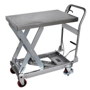 Record MMLT-SS Manual Mobile Lift Table Stainless Steel